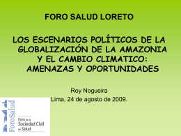 Roy Nogueira ForoSalud Loreto