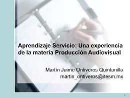 Aprendizaje Servicio: Una experiencia de la materia Producción