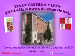"""El IES """"Juan de Juni"""" - Concurso Día de Castilla y León en clase"""
