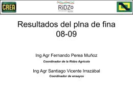 Analisís Resultados Fina 2009