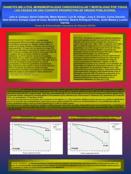 diabetes mellitus, morbimortalidad cardiovascular y