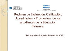 CFE 174-12 Pautas Federales » Régimen de Evaluación