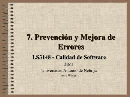 PrevencionErrores - Universidad Antonio de Nebrija