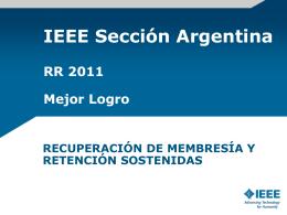 Eventos de Secciones y Congresos (Argentina)