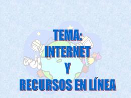 Internet y recursos en línea Cap 8