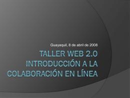 Web 2.0 Introduccion a la colaboracion en linea