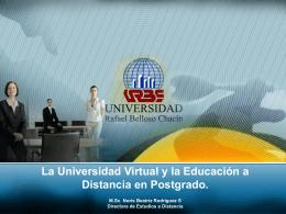 EAD presentación de Postgrado