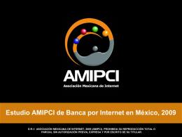 Estudio AMIPCI de Banca por Internet en México, 2007