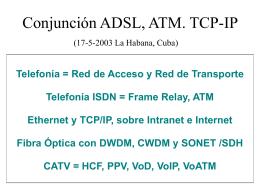 Conjunción ADSL, ATM, TCP