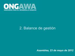 Presentación de PowerPoint - ONGAWA Ingeniería para el