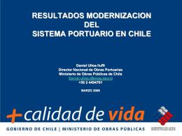 Resultados Modernacioón del Sistema Portuario en Chile