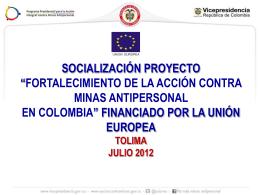 Tolima - Dirección para la Acción Integral contra Minas Antipersonal