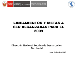 proceso de demarcación y organización territorial