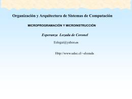 Qué es la Microprogramación?