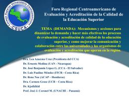 TrabajoDeGrupo4 - Consejo Centroamericano de Acreditación