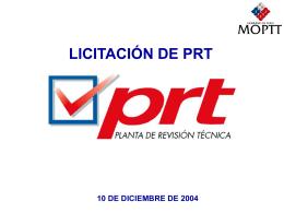 licitación de prt 10 de diciembre de 2004