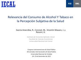 Relevancia del Consumo de Alcohol Y Tabaco en la Percepción