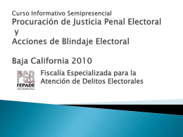 curso procuración de justicia penal electoral 2010