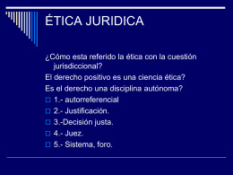 ÉTICA JURIDICA - Escuela Judicial del Estado de Campeche