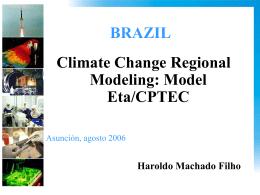 ETA-Centro de Previsão e Estudos Climáticos (CPTEC) Regional