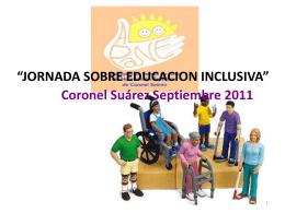 """JORNADA SOBRE EDUCACION INCLUSIVA"""
