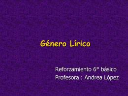 ¿Qué es el género lírico? - Colegio Hispano Americano