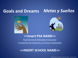 Goals and Dreams - Los Angeles Unified School District / Homepage