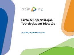 Tecnologias em Educação - PUC - Portal do Professor