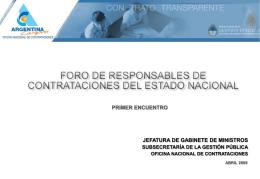 Presentación - Subsecretaría de la Gestión Pública