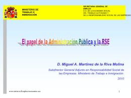 El papel de la Administración Pública y la RSE