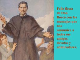 MENSAJES DE DON BOSCO