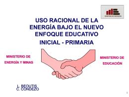 CAMPAÑA EDUCATIVA - Ministerio de Energía y Minas