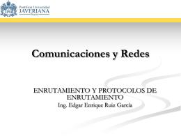Protocolos de Enrutamiento - Pontificia Universidad Javeriana