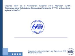 Samir Puerta – OIM - Conferencia Regional sobre Migración