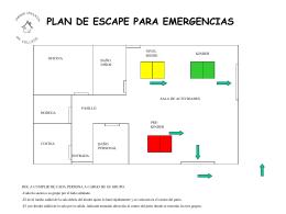 Plan de evacuación en caso de emergencia