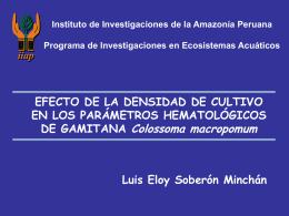 PROGRAMA DE ECOSISTEMAS ACUATICOS