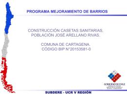 Informe Obras PMB Terminacion casetas Poblacion Jose Arellano