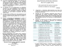 Boletín nº 4 - Escuela República de Croacia
