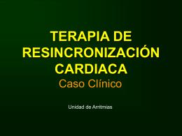 TERAPIA DE RESINCRONIZACIÓN CARDIACA
