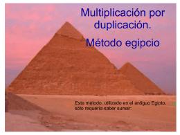 Multiplicación egipcia - matematicas Ricardo Vazquez