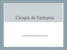 Aspectos neuroquirúrgicos de la epilepsia