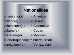 Nationalities - MsKellyFreire