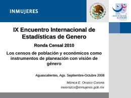 Los censos de población y económicos como instrumentos