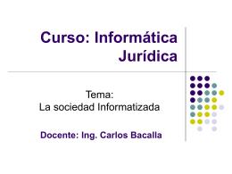 Información - www.CarlosBacalla.com