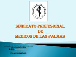 Diapositiva 1 - Sindicato Profesional de Médicos de Las Palmas