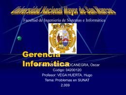 Gestión Informática - Gerencia Informática