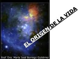 Descargar El origen de la vida, clase Mª José Borrego
