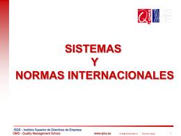 Sistemas y Normas QMS