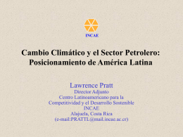 cambio climatico y el sector petrolero