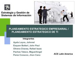 ACE Latin America PLANEAMIENTO ESTRATEGICO